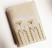 Papiernictvo - Obal na knihu nastaviteľný - Lúčne trávy - 12638329_