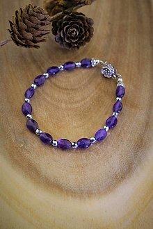 Náramky - ametyst náramok - luxusný šperk pre náročného zákazníka - 12638233_