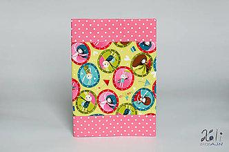 Papiernictvo - Detský obal na šlabikár, pracovný zošit Girls II. - 12641432_
