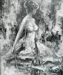 Obrazy - HOUSLISTKA,plátno 120-100cm - 12641840_