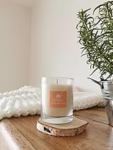 Svietidlá a sviečky - Prírodná vonná sviečka v skle | Citrus - 12638919_