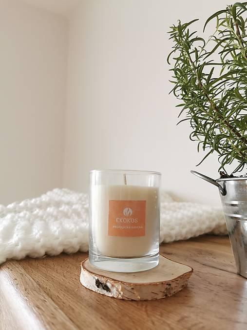 Prírodná vonná sviečka v skle | Citrus