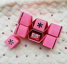 Krabičky - Origami vianočné salonky - 12640088_