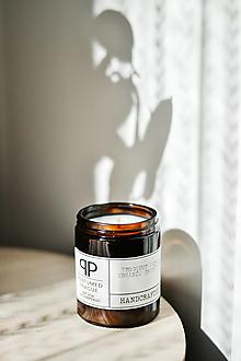 Svietidlá a sviečky - sójová svíčka M - BERGAMOT- KAPRADI- MECH-MARHANÍK - 12638463_