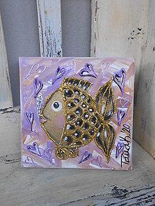 Obrazy - Zlatá rybka - 12638728_