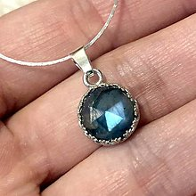 Náhrdelníky - Faceted Labradorite Filigree Necklace AG925 / Strieborný náhrdelník s labradoritom - 12647711_