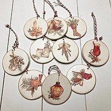 Dekorácie - Ozdoby na vianočný stromček - romantické Vianoce - 12647044_