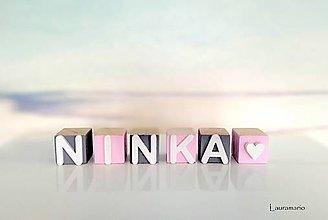 Hračky - Kocky drevené Ninka - 12648158_