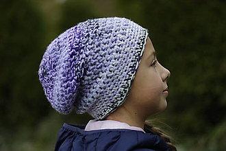 Čiapky - zimná fialka čiapka:) - 12643561_