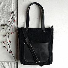 Kabelky - Kožená kabelka Vera (čierna) - 12643633_