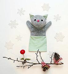 Hračky - Maňuška mačička - 12647312_