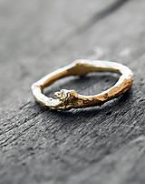 Prstene - Vetvičkový prsteň strieborný robustnejšie - 12646810_