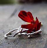 Prstene - Vetvičkový prsteň strieborný robustnejšie - 12646812_