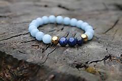 Náramky - LUX Angelit Lapis Lazuli - 12643215_