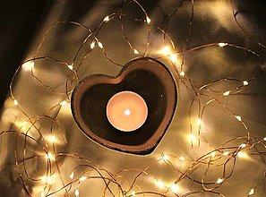 Nádoby - Keramické srdce belasé - 12643611_
