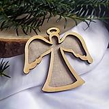 Dekorácie - Vianočné ozdoby anjelik 2v1 - 12643409_