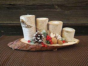 Svietidlá a sviečky - Vianočný adventný svietnik - 12644116_