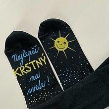 """Obuv - Maľované ponožky s nápisom: (Najlepší krstný  - čierne s """"písaným"""" typom písma) - 12643383_"""