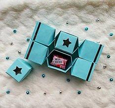 Krabičky - Origami vianočné salonky - 12643101_
