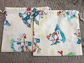 Úžitkový textil - vrecúška vianočný motív - 12643999_
