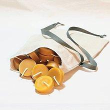 Svietidlá a sviečky - Čajová sviečka, 20 ks v darčekovom vrecúšku - 12644251_