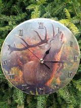 Dekorácie - Hodiny pre poľovníka - 12645767_
