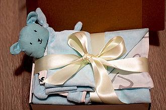 Textil - Darčekový set - modrý - 12644449_