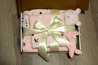 Textil - Darčekový set - ružový - 12644478_
