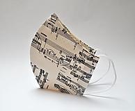 Tvarované dvojvrstvové rúška - Noty