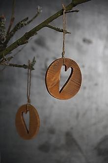 Dekorácie - Srdce v kruhu (Biela) - 12650928_