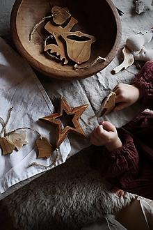 Dekorácie - Hviezda v hviezde (Šedá) - 12652071_