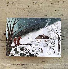 Papiernictvo - Zasnezena krajinka / vianocny pozdrav  - 12649594_