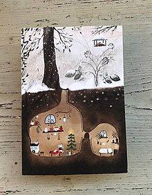Papiernictvo - Myska a stromcek / vianocny pozdrav  - 12649636_