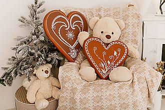 Úžitkový textil - Pletená deka, Smotanovo-Hnedá, Nórsky vzor, Smotanová kožušinka - 12649102_