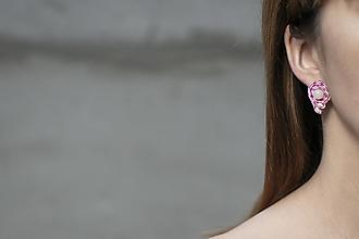 Náušnice - Pastelové cievky - soutache earring - ručne šité šujtášové náušnice - 12651117_