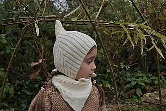 Detské čiapky - Detská čiapka škriatok smotanová - 12649026_
