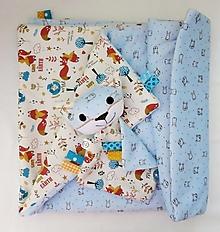 Textil - Detská deka - Modrá od Líščieho údolia - 12650205_
