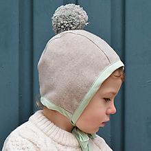 Detské čiapky - Zimný čepiec s bombrlcom - 12654325_