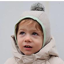 Detské čiapky - Zimný čepiec s bombrlcom - 12654350_