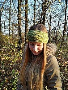 Ozdoby do vlasov - Pletená čelenka - 12652606_