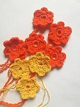 Materiál ručne robený - Kvety väčšie, pomarančové a žlté - 12650432_