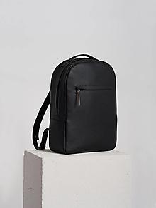 Batohy - Leather backpack Black - 12649277_