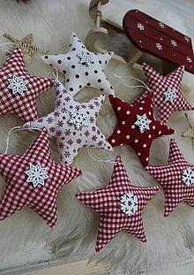 Dekorácie - Vianočné hviezdičky-sada - 12651176_