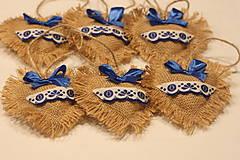 Dekorácie - Kráľovsky modré vianočné ozdoby FOLKLÓR - 12651152_