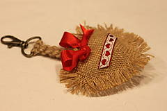 Kľúčenky - Handmade kľúčenka so srdiečkom Folklór - 12651506_