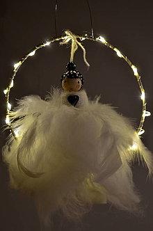 Dekorácie - Baletka-svietiaca-biele šaty - 12654244_
