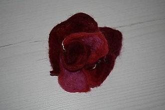 Brošne - plstená brošňa (7cm - Červená) - 12650351_
