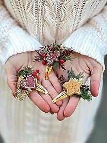 """Ozdoby do vlasov - Vianočné pukačky """"vôňa medovníkov"""" - 12653227_"""