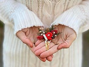 """Ozdoby do vlasov - Vianočné pukačka """"červená rukavička"""" - 12653340_"""