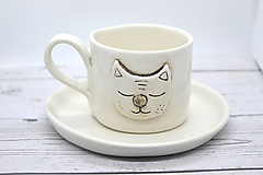 Nádoby - Šálka Jesenná mačička - 12650778_
